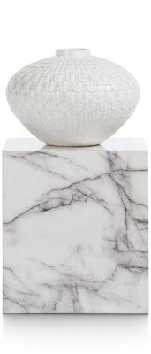 Coco-Maison Marble look pilaar 45cm wit