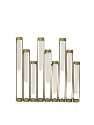 Tube vaas antiek brass