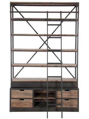 Bieb boekenkast met ladder
