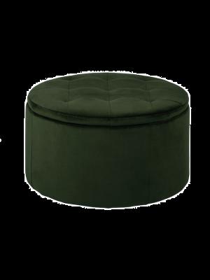 Runa poef velvet groen