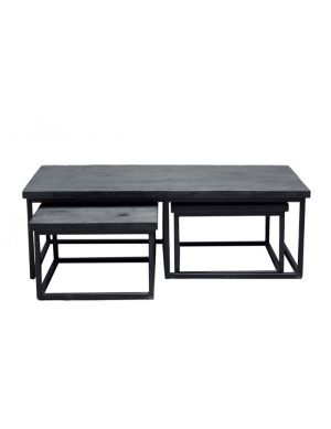 Batam zwart- zwart set van 3 zwart