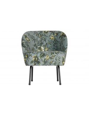 Vogue fauteuil fluweel poppy grijs