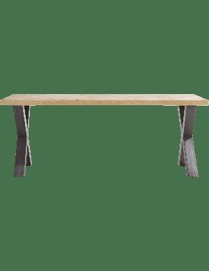 Metalox eettafel met rechtblad 230 cm