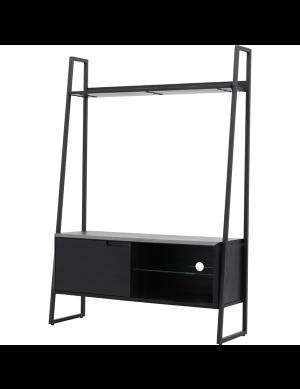 Lugo tv-meubel met opzet zwart