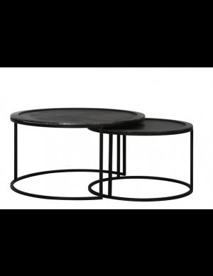 Claro salontafel set van 2 edge zwart