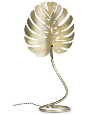 Monstera Leaf tafellamp goud