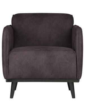 Statement fauteuil arm eco leer grijs