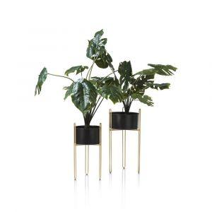 Susan plantenstandaard set van 2 zwart