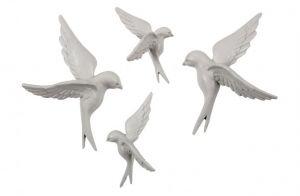 Avaler vogels set van 4  mist