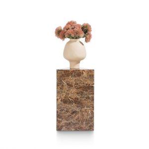 Coco-Maison Pilaar marble look bruin