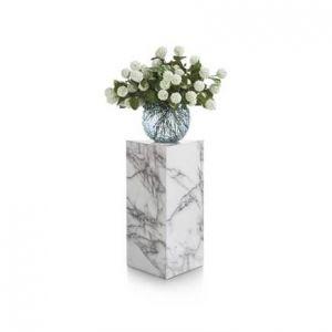 Coco-Maison Pilaar marble look wit