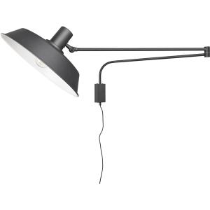 Bolder wandlamp zwart