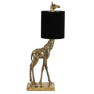 Giraffe tafellamp goud -zwart