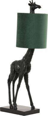 Giraffe tafellamp zwart-groen