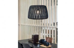 Moza hanglamp 70cm bamboe zwart