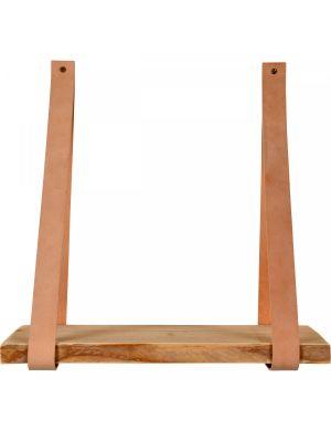 Trendhopper Leren plankdragers Yay inclusief plank beige
