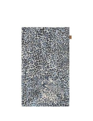 Leopard karpet grijs