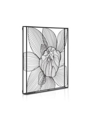 Modern Lily wanddeco zwart