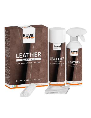 Microfiber-leather care kit