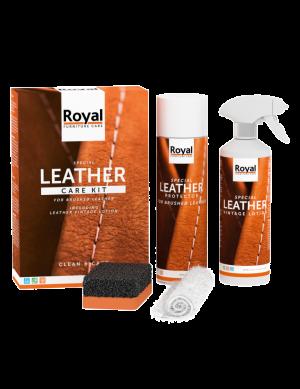 Brushed leather care kit