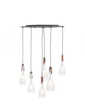 Oryan hanglamp glas wit