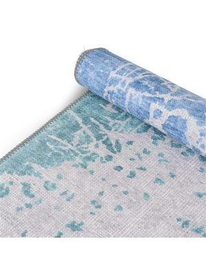 Sketches double karpet blauw/ groen