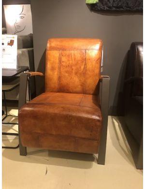 Trendhopper Lima fauteuil cognac SHOWMODEL