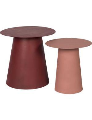 Talence bijzettafel set van 2 roze, bordeaux